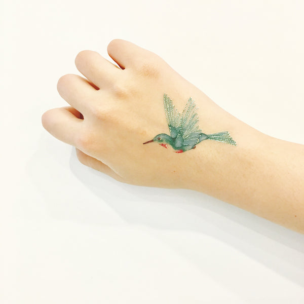 hummingbird temporary tattoo paperself