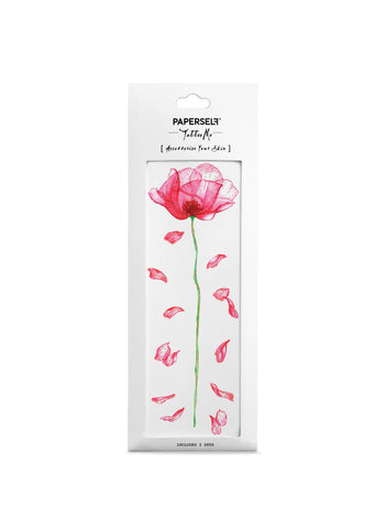 poppy temporary tattoo by paperself