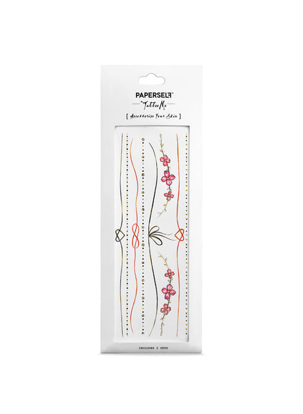 red thread realistic temporary tattoo