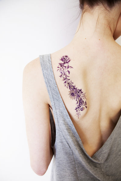 Rosy and Daisy Temporary tattoos PAPERSELF