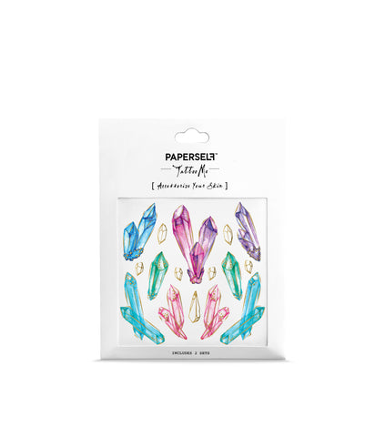 crystals temporary tattoo