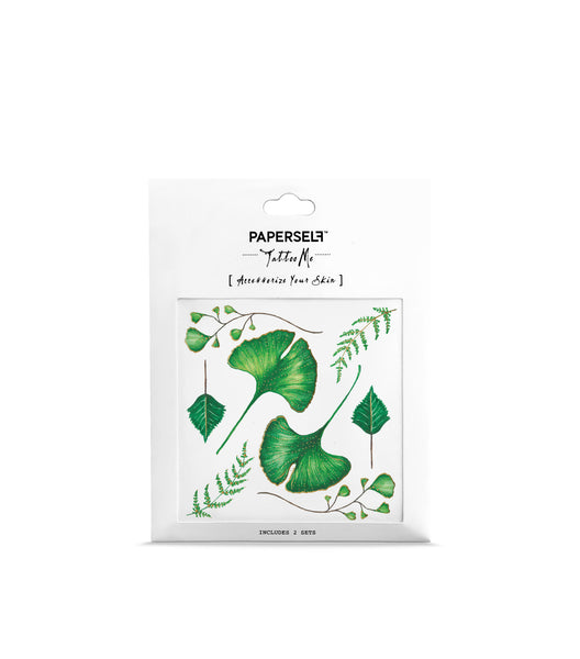 ginkgo leaf temporary tattoo by paperself