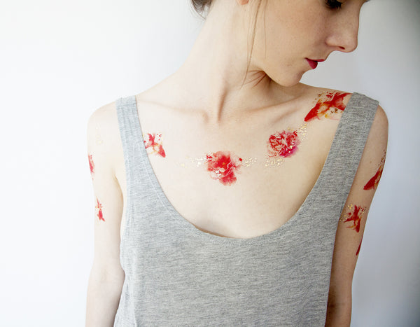 Goldfish Temporary tattoos PAPERSELF