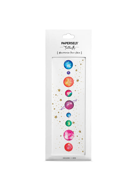 planet temporary tattoo by paperself
