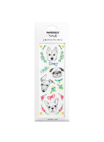 Puppy Love Dog Temporary Tattoo