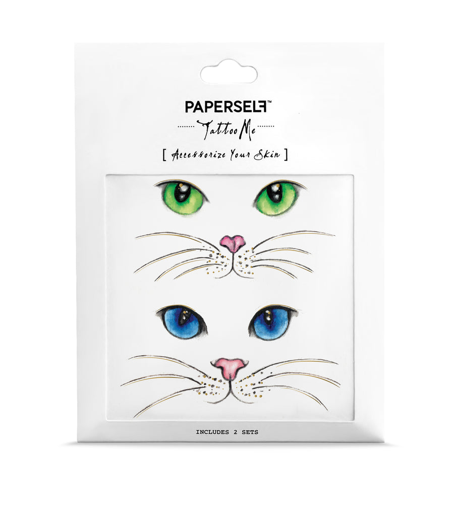 4d73032fa Cat Eyes Temporary Tattoo | PAPERSELF | PAPERSELF