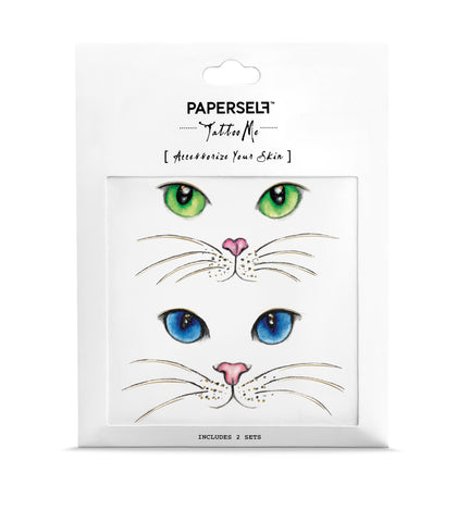 Cat Eyes Metallic Temporary Tattoo