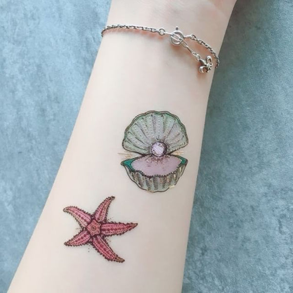 temporary tattoo hand drawn by illustrator