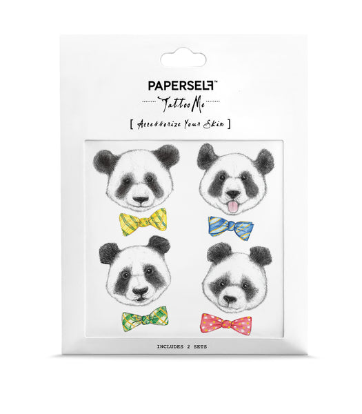 Panda cute temporary tattoo