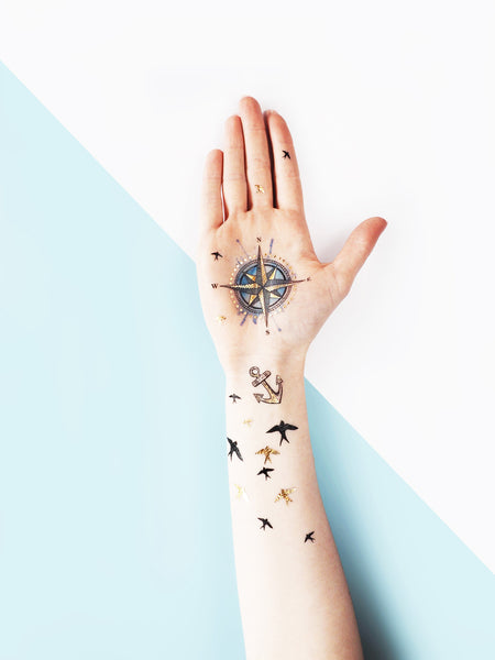 Nautical Temporary tattoos PAPERSELF
