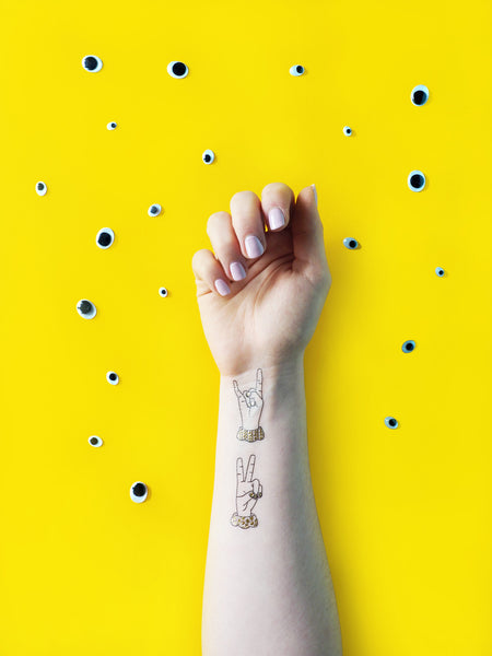 Sign Language Temporary tattoos PAPERSELF