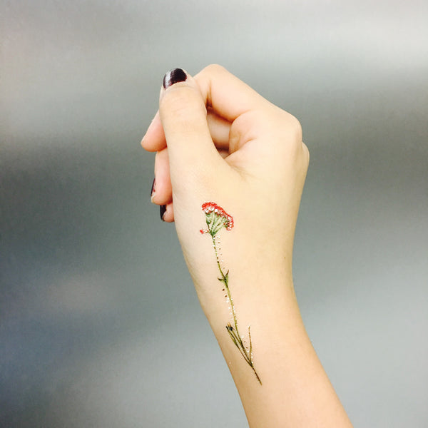 vintage flower temporary tattoo paperself