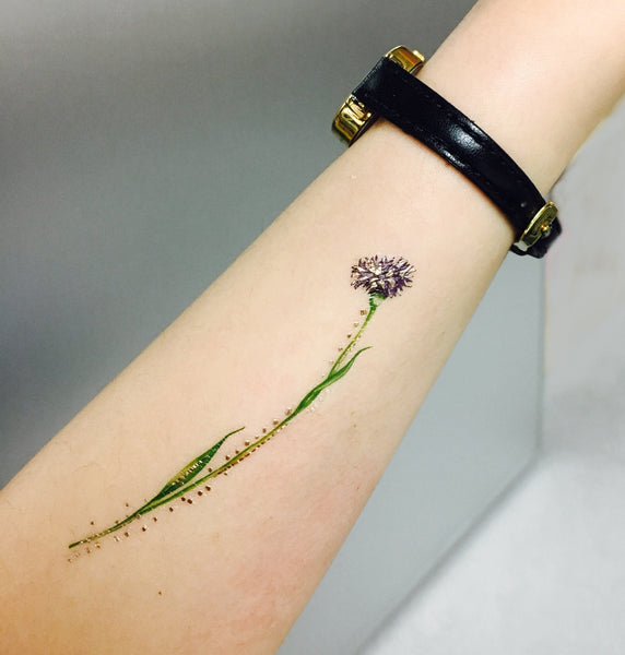 flower temporary tattoo paperself