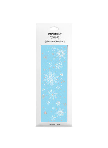 frozen temporary tattoo white snowflake