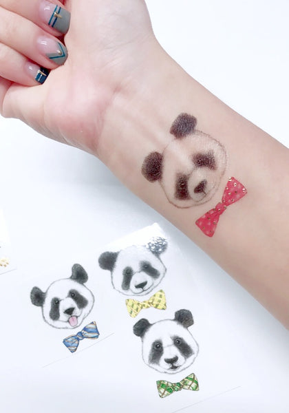Panda realistic temporary tattoo