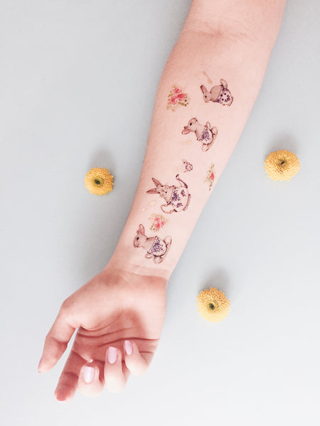 Rabbit's Tea Party Temporary Tattoo PAPERSELF