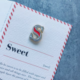 alphabet letter pin with S
