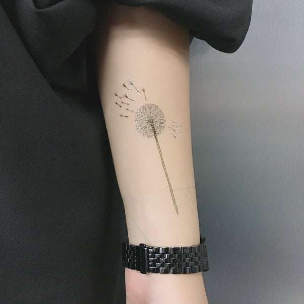 dandelion temporary tattoo