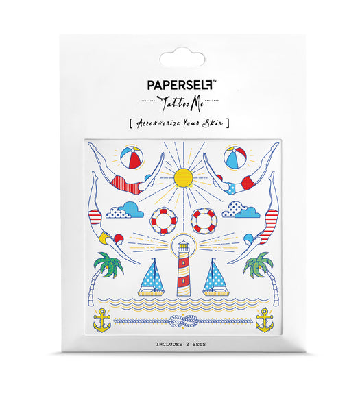 Swimmer Metallic Temporary Tattoo
