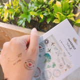 PAPERSELF Travel metallic temporary tattoos