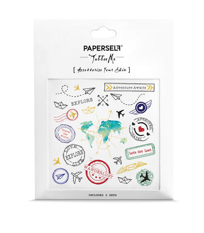 travel Temporary tattoos PAPERSELF