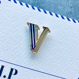 enamel alphabet letter pin badge