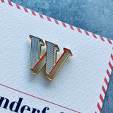 enamel alphabet letter badge and card