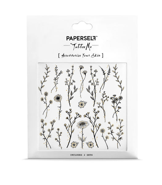 wildflower mini flower Temporary tattoos PAPERSELF