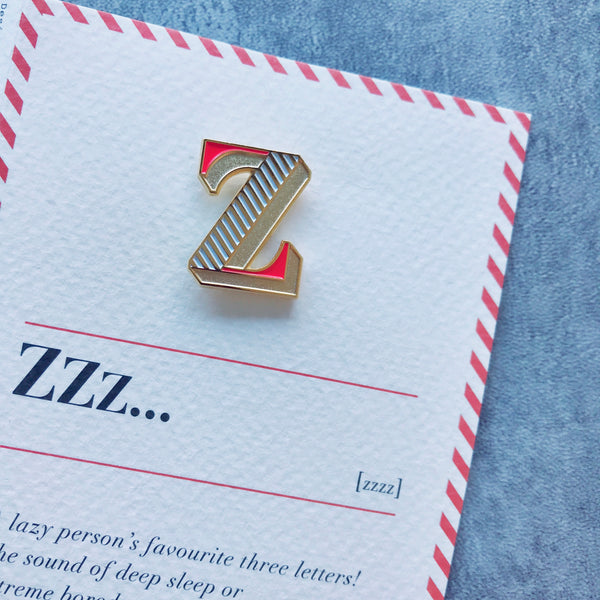 luxe enamel pin brooch