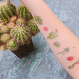 cactus temporary tattoo