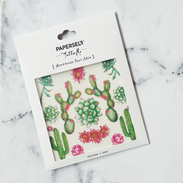 Cactus 2 Temporary Tattoo