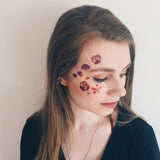 festival face flower temporary tattoo transfers
