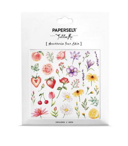 Flowers & Fruits Temporary Tattoo