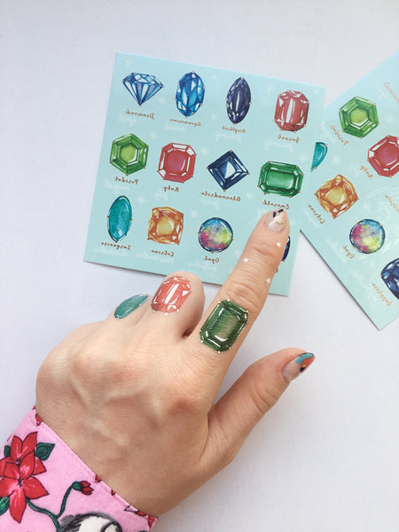 birthstone temporary tattoo sticker