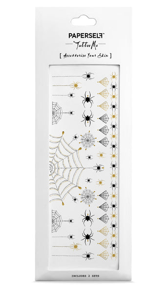Halloween Spider Temporary tattoo PAPERSELF