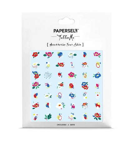 Little Flowers White Temporary Tattoo
