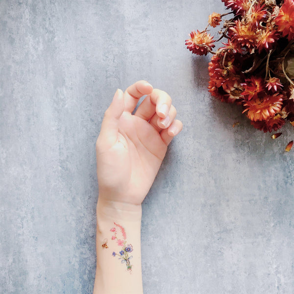 Mini Bouquet Temporary Tattoo