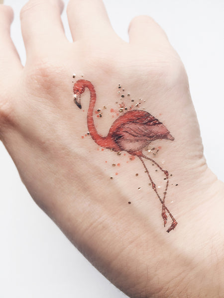 flamingo long lasting temporary tattoo by paperself london