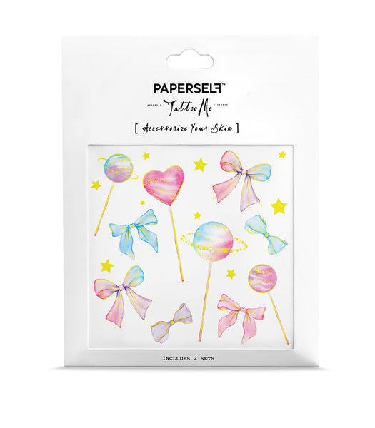 lollipop candy temporary tattoo