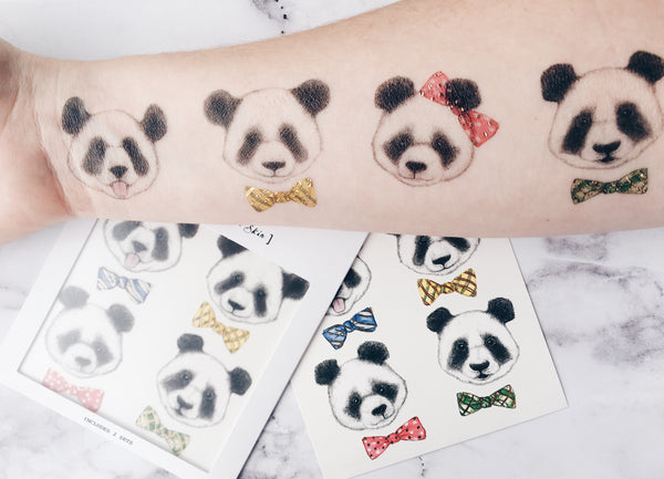Pandas Temporary Tattoo