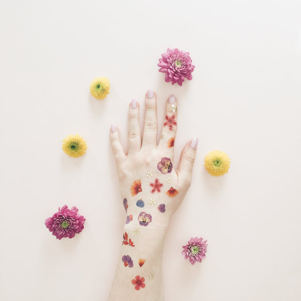 Petals Flower Temporary Tattoo PAPERSELF