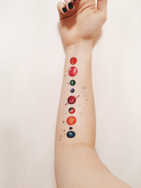 Planet Temporary Tattoo