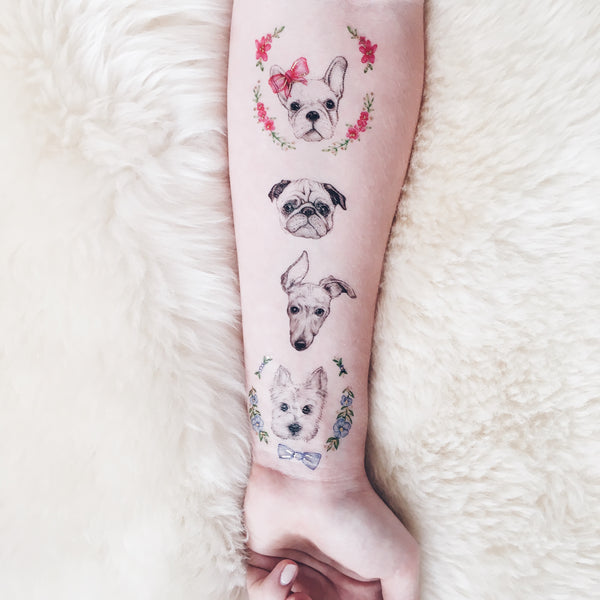 Puppy Love Temporary Tattoo