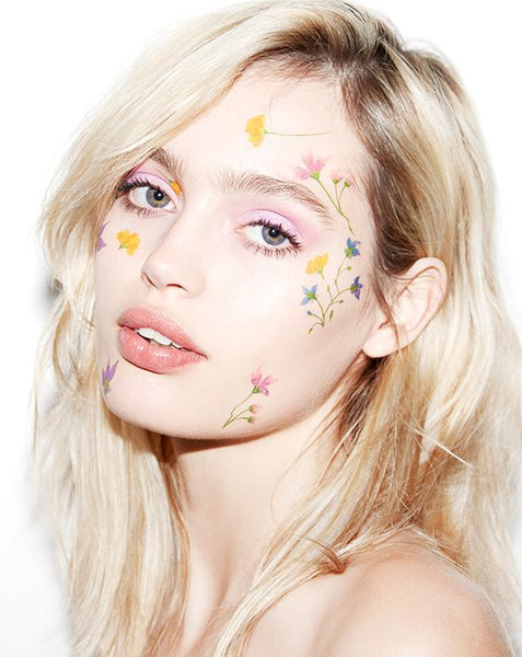 face flowers festival makeup