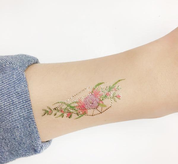 terrarium temporary tattoo design by illustrator
