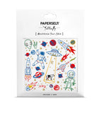 Space UFO Metallic Temporary Tattoo
