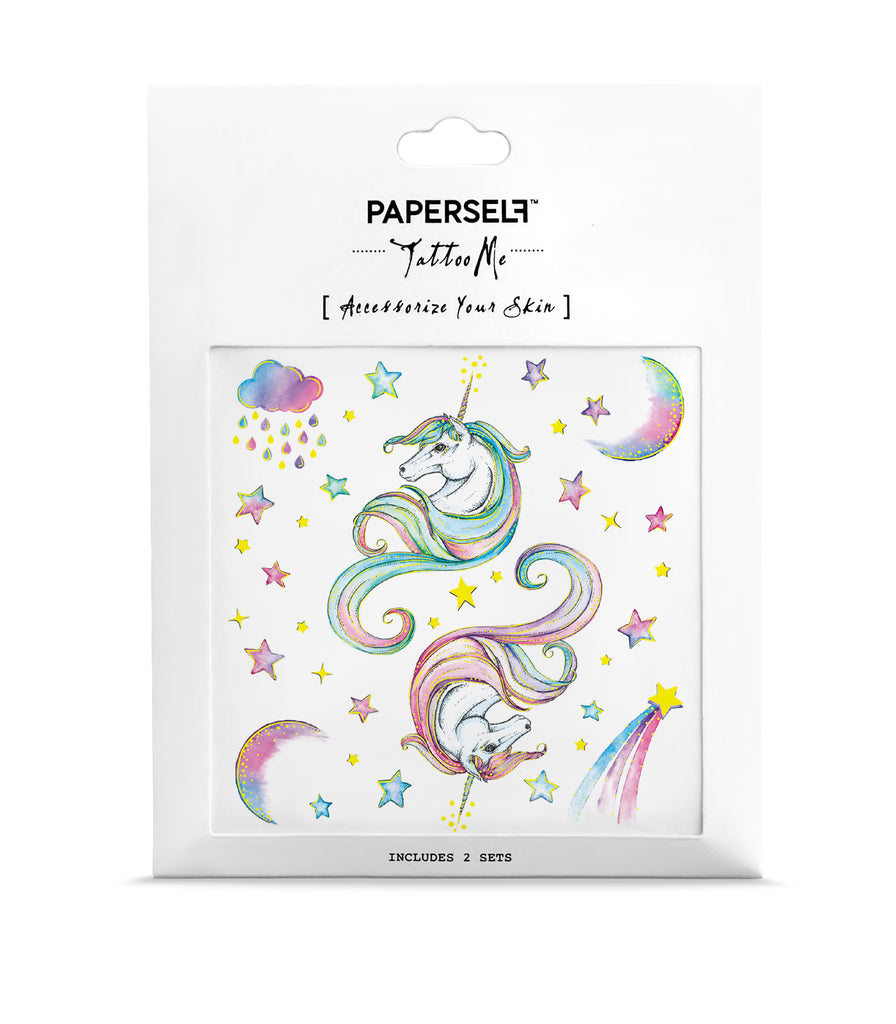 185f58cd8 Unicorn Rainbow Metallic Temporary Tattoo by PAPERSELF | PAPERSELF