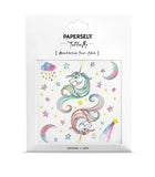 unicorn rainbow metallic temporary tattoo