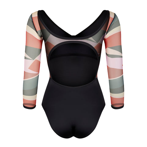 Mesh Sleeve Leotard - 1901 - Geo