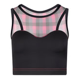 THALIA Dance Top - Check print